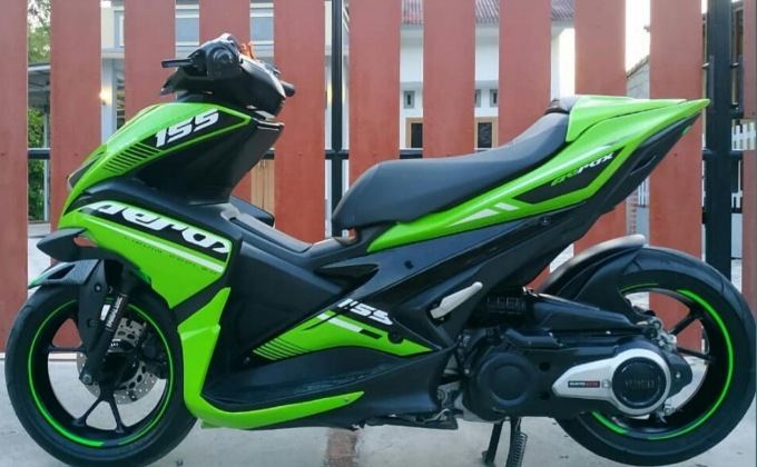 Modifikasi yamaha Aerox 155 ful body custom terbaru 2020