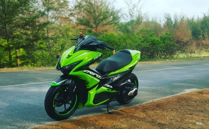 Modifikasi yamaha Aerox 155 ful body custom Terbaru