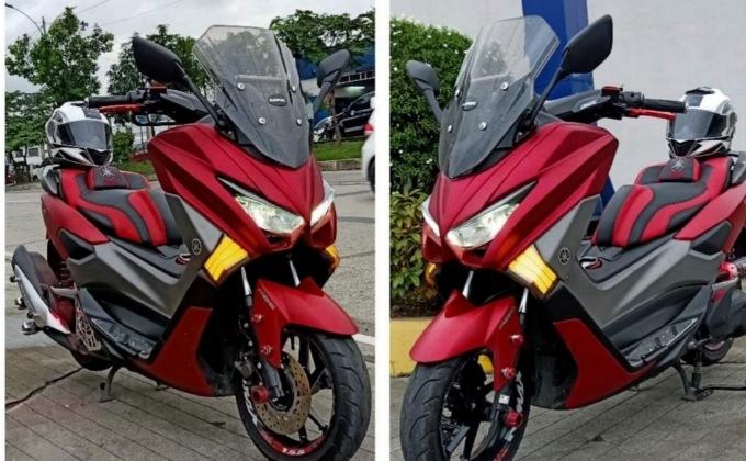 Modifikasi Yamaha NMax155 dual keen eyes