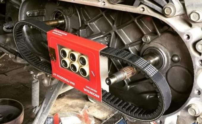 Merawat v belt Motor